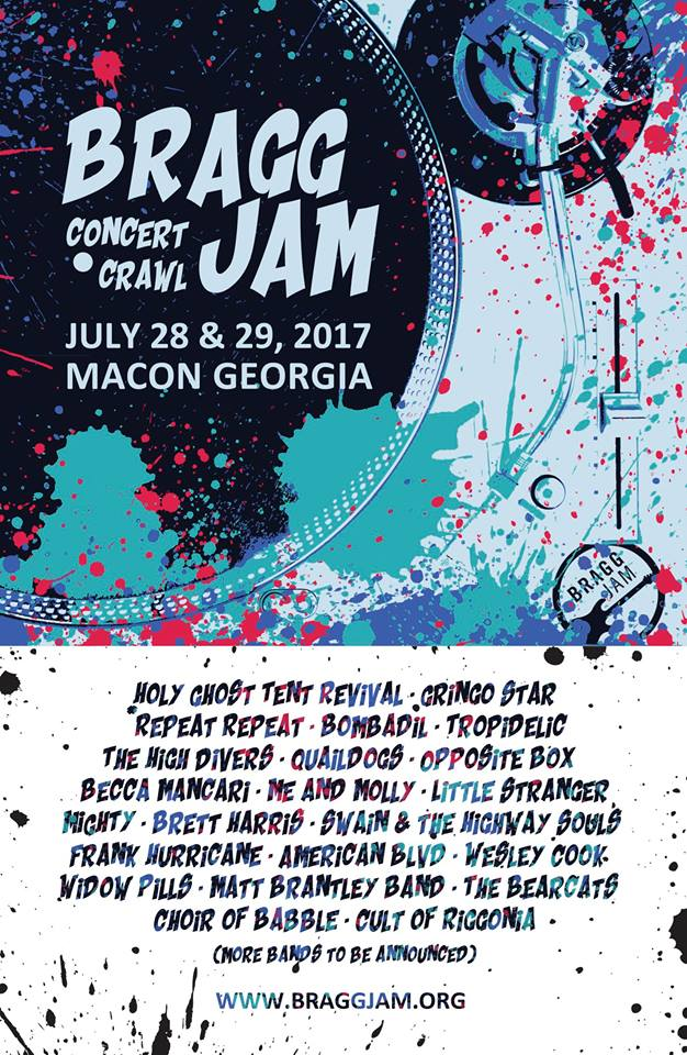 The Bragg Jam Concert Crawl: July 29 (Macon, GA)